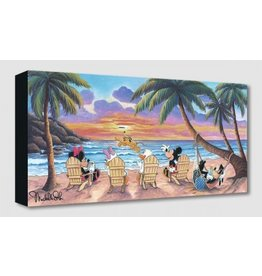 DISNEY Beautiful Day At The Beach -  Disney Treasure On Canvas