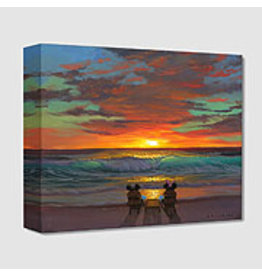 DISNEY Sharing a Sunset -  Disney Treasure On Canvas