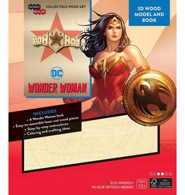 DC COMICS Wonder Woman Tiara 3D Wood Model