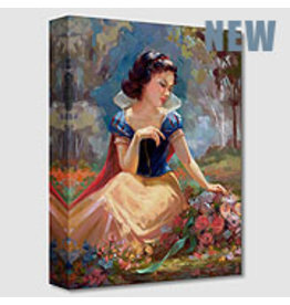 DISNEY Gathering Flowers -  Disney Treasure On Canvas