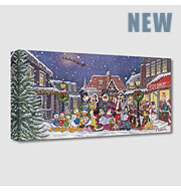 DISNEY A  Snowy Christmas Carol -  Disney Treasure On Canvas