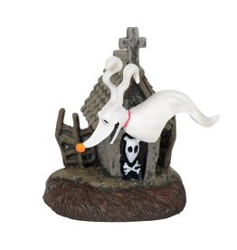 NIGHTMARE BEFORE CHRISTMAS Department 56 The Nightmare Before Christmas Village Zero and His Dog House Figure