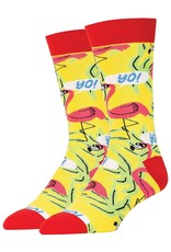 Pink Flamingos - Men's Crew Socks