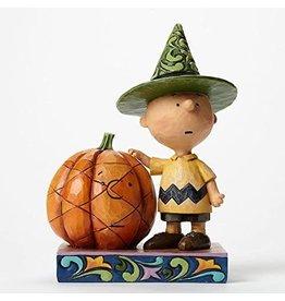 Charlie Brown with Pumpkin Halloween Figure