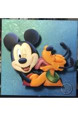 DISNEY Mickey and Pluto Portrait - Original