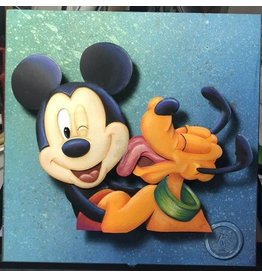 DISNEY Mickey and Pluto Portrait - Original