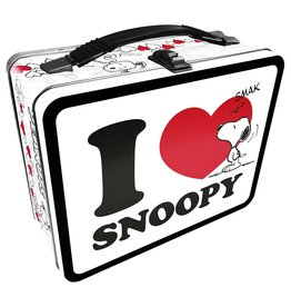 I Love Snoopy Tin Lunch Box