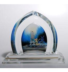 DISNEY Mischievous Tinker Bell Castle Window Disney Art Glass