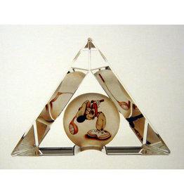 """DISNEY """"Fore"""" Disney Art Glass Sculpture"""