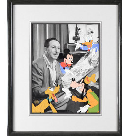 DISNEY Walt Disney Storyboard  Photo with Cel Over Lay