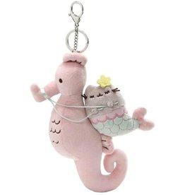 "Pusheen Mermaid & Seahorse Keychain 8"""