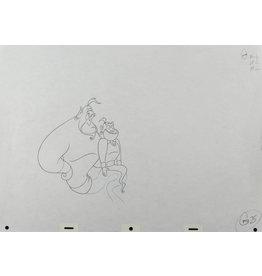 DISNEY Aladdin Genie Production Drawing