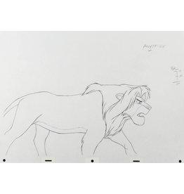 DISNEY Lion King Simba Production Drawing