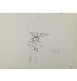 WARNER BROS. Wiley Coyote Irritated Production Drawing