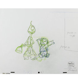 DISNEY Lilo and Pleakley Production Drawing