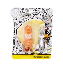 """Bugs Bunny & Elmer Fudd Bendable Figures 4"""""""