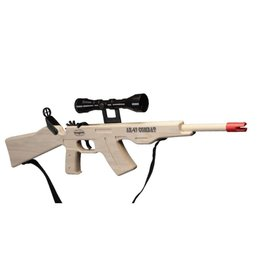 AK -47 Rubber Band Gun With Sling & Scope