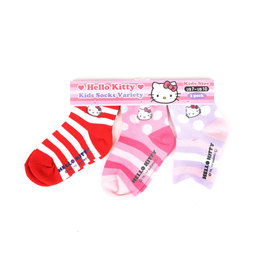 3 Pk Hello Kitty Kids Socks