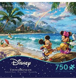 DISNEY Kinkade Mickey And Minnie in Hawaii Puzzle