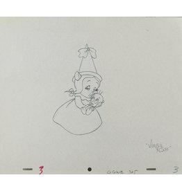 WARNER BROS. Petunia Pig & Tweety Production Drawing