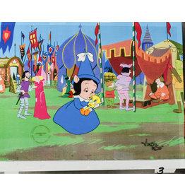 WARNER BROS. Petunia PIg & Tweety Hand Painted Cel & Background