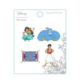 LOUNGEFLY Loungefly Aladdin Enamel Pin Set