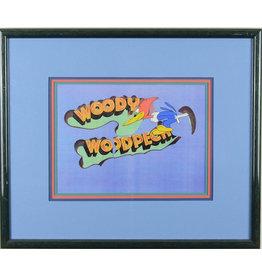 WARNER BROS. Woody Woodpecker Hand Painted Cel over Title