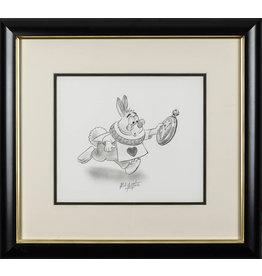 DISNEY White Rabbit from Alice in Wonderland Original Drawing
