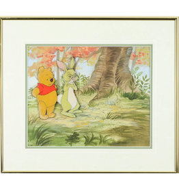 DISNEY Winnie the Pooh and Rabbit Hand Painted Cel