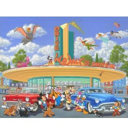 DISNEY Walt's Drive-In-Framed