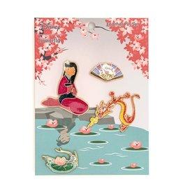 LOUNGEFLY Mulan Enamel Pin Set