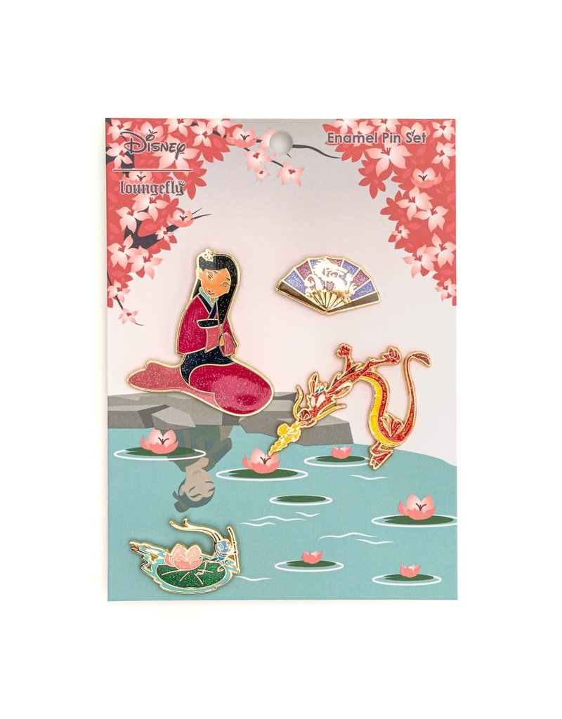 LOUNGEFLY Mulan Enamel Pin Set