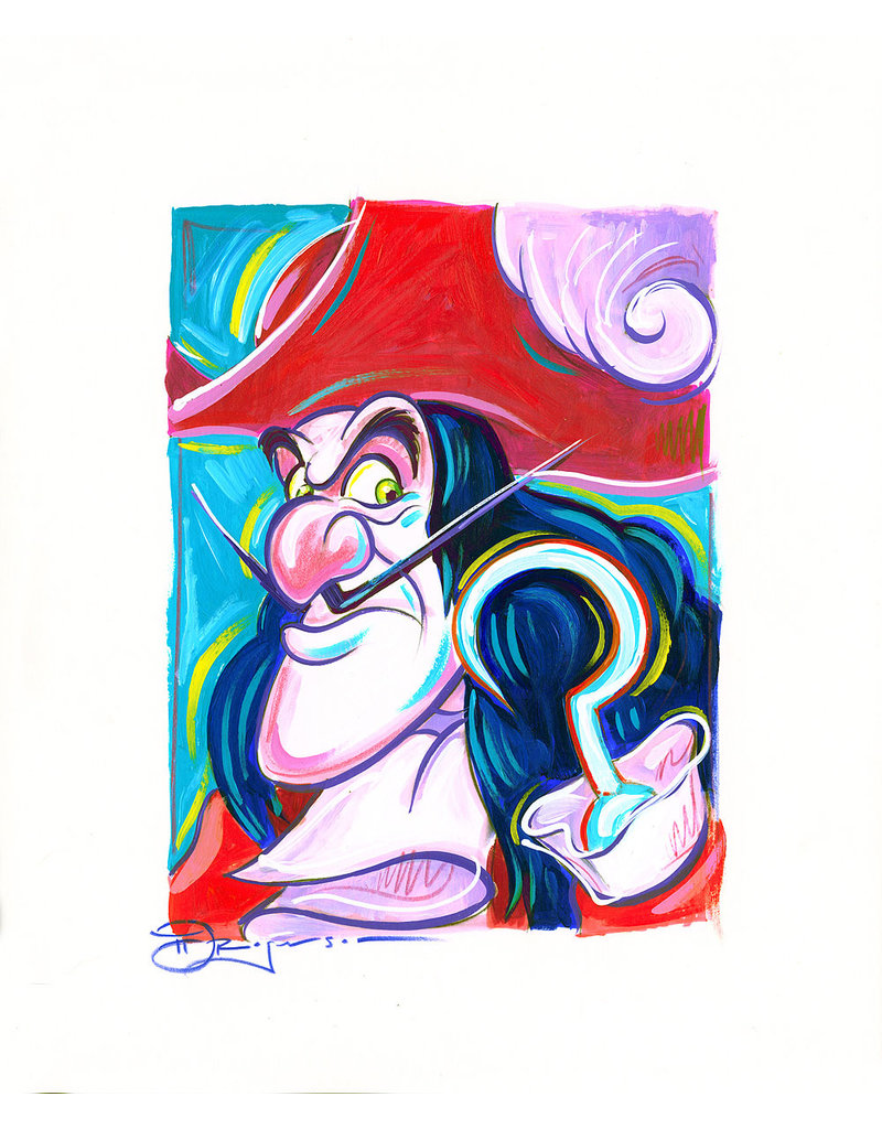 DISNEY Hook Painted Sketch - Original