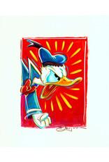 DISNEY Angry Donald Painted Sketch - Original