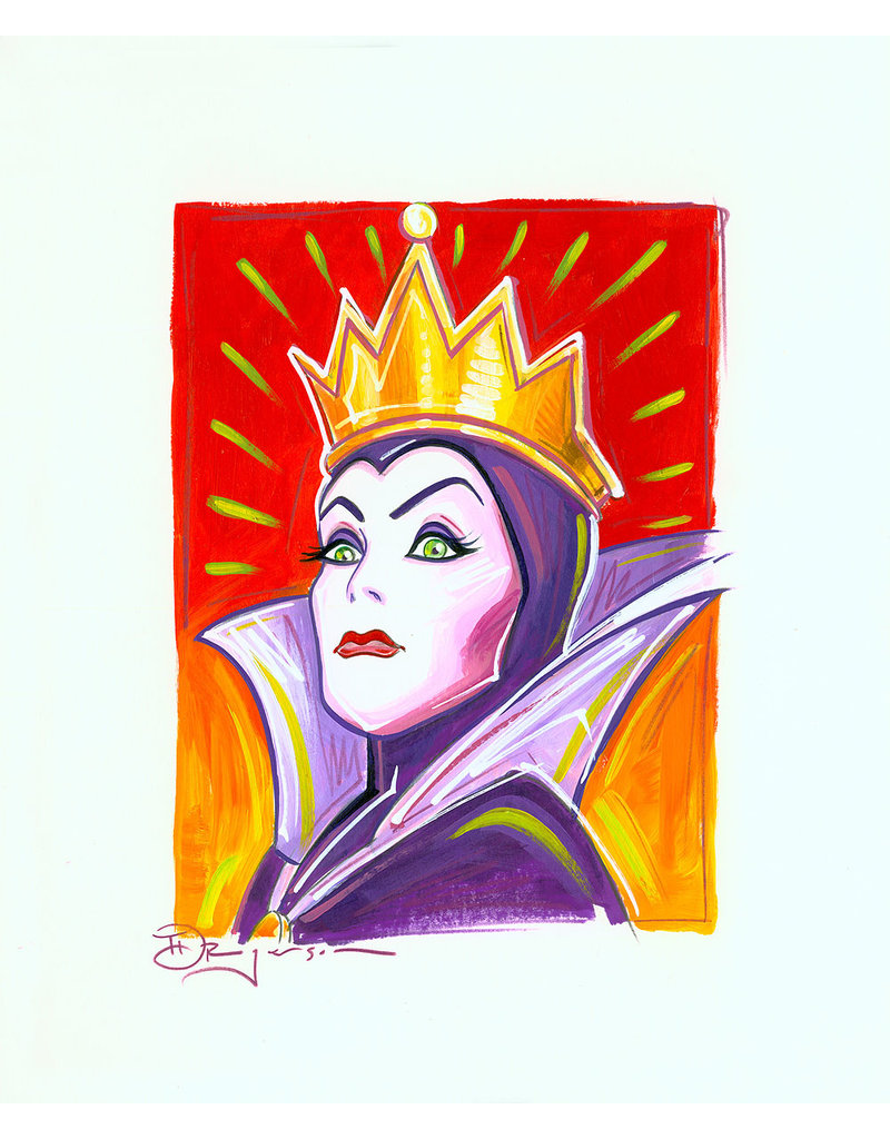 DISNEY Evil Queen Painted Sketch - Original