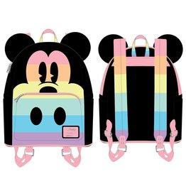 LOUNGEFLY Loungefly Mickey Pastel Rainbow Mini Backpack
