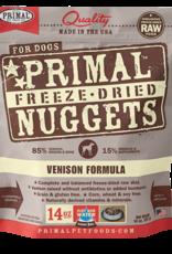 Primal Pet Foods Dog Raw Freeze-Dried Venison Nuggets 14oz