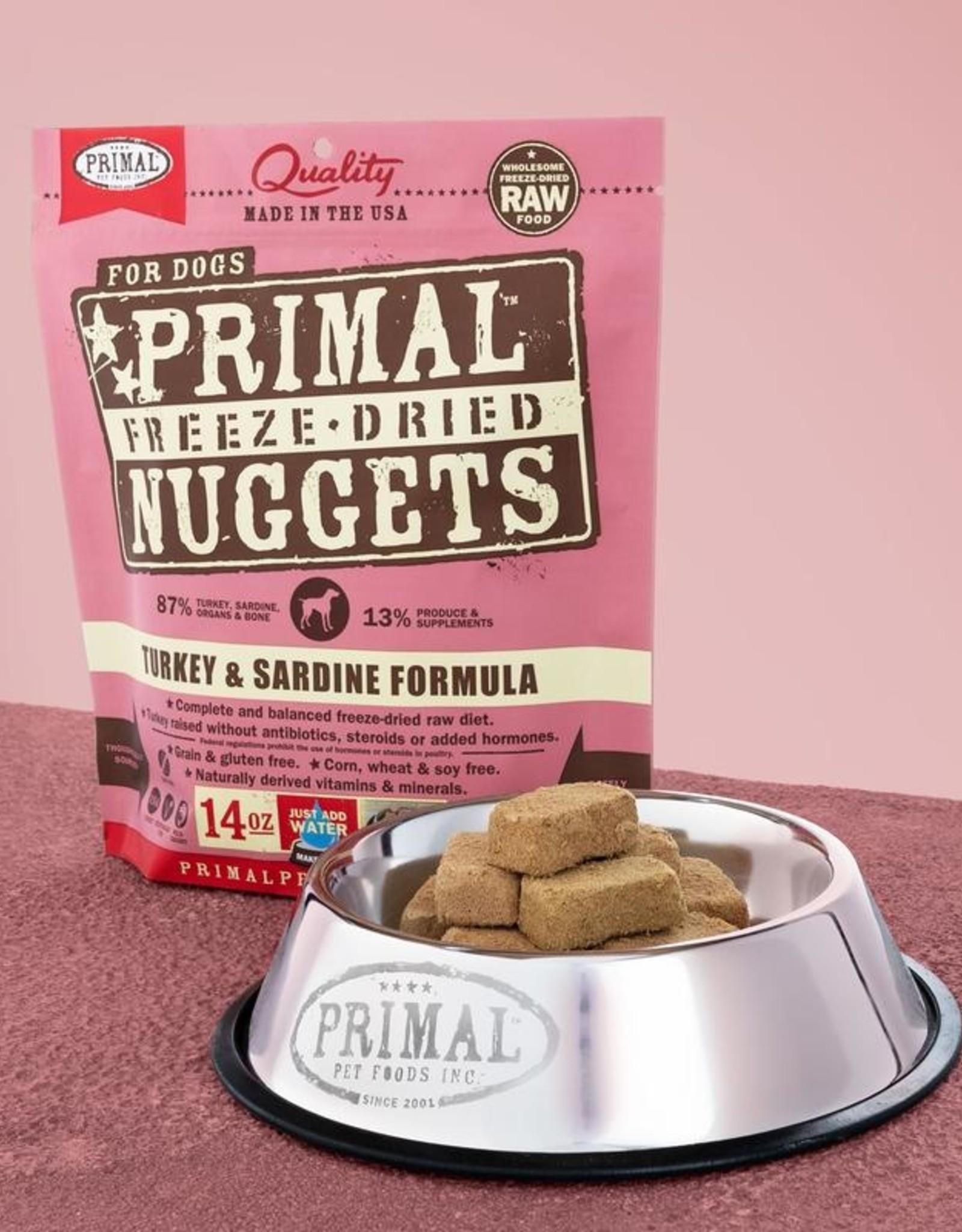 Primal Pet Foods Dog Raw Freeze-Dried Turkey & Sardine 14oz