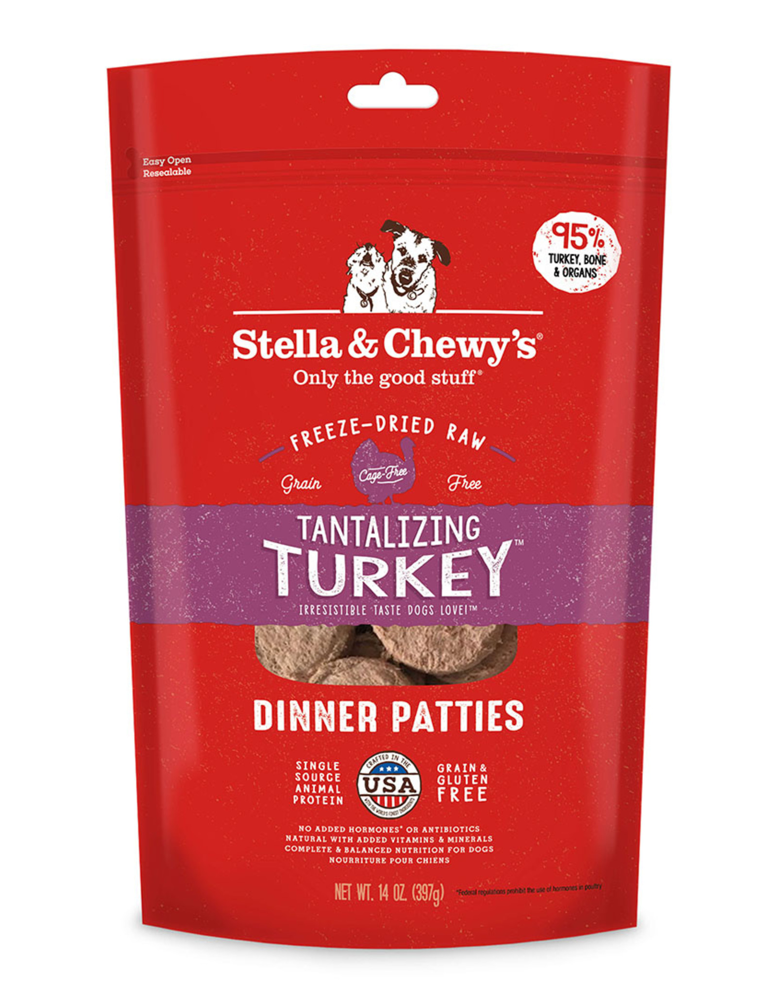 Stella & Chewy's Tantalizing Turkey Freeze-Dried Raw Dinner 14oz