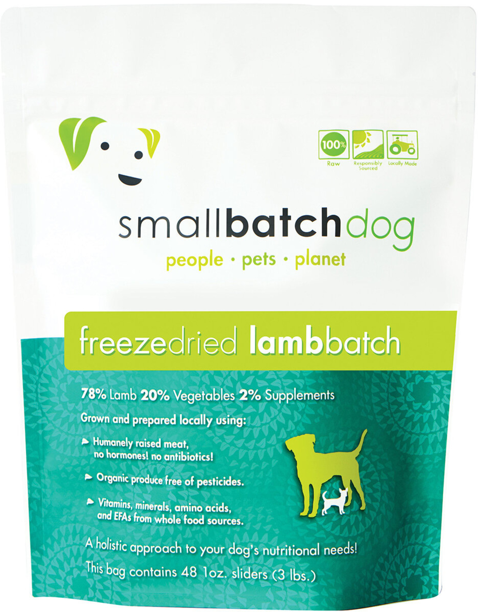 SmallBatch Pets Freeze-Dried Lamb Batch Dog 14oz
