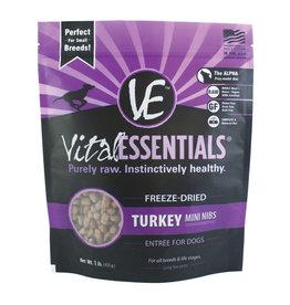 Vital Essentials Turkey Mini Nibs Freeze-Dried Grain Free Dog Food 1lb