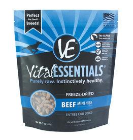 Vital Essentials Beef Mini Nibs Freeze-Dried Grain Free Dog Food 1lb