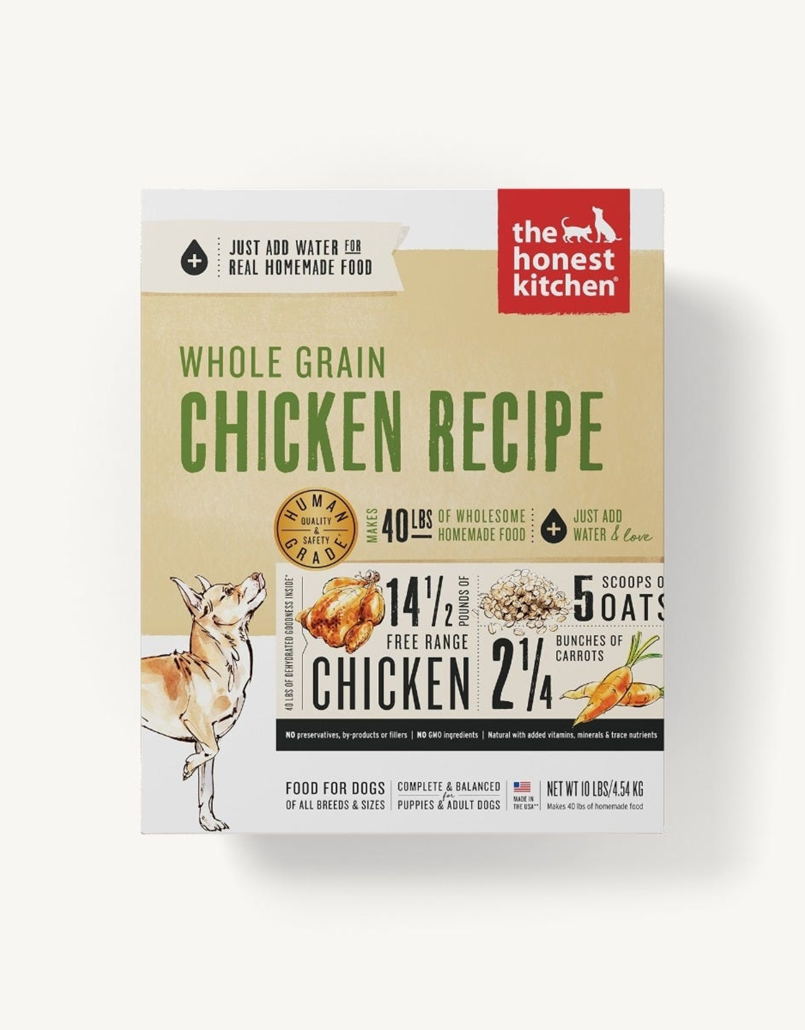 The Honest Kitchen Dehydrated - Whole Grain Chicken Recipe 10lb