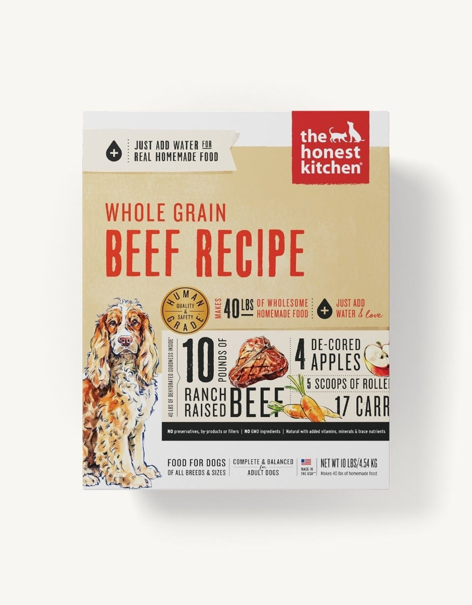 The Honest Kitchen Dehydrated - Whole Grain Beef Recipe 4lb