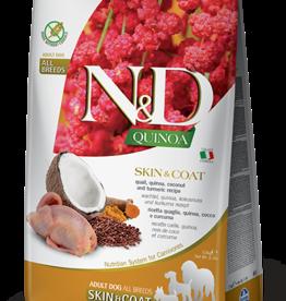 Farmina Dog N&D Quinoa - Skin&Coat Quail 5.5lb