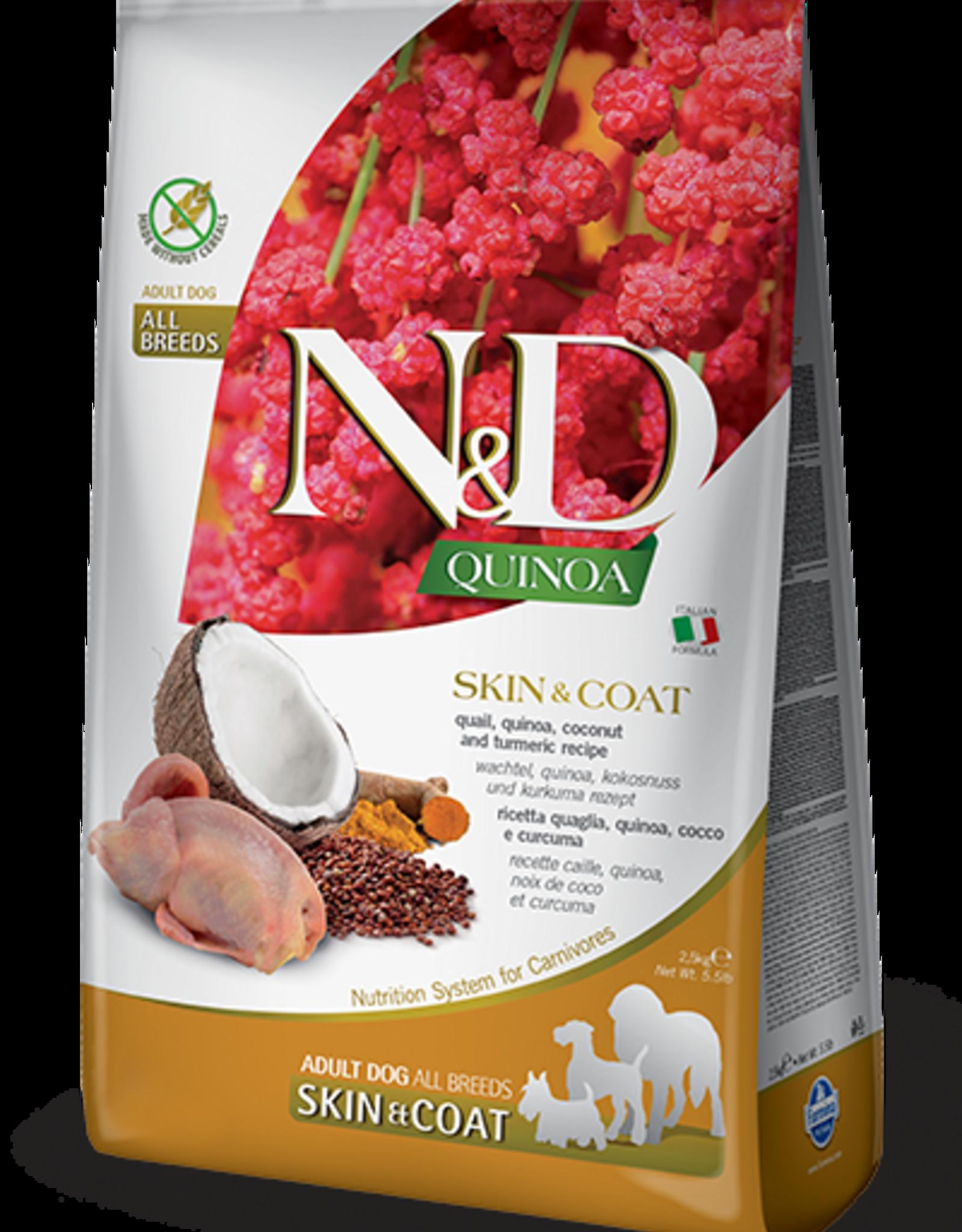 Farmina Dog N&D Quinoa - Skin&Coat Quail 15lb