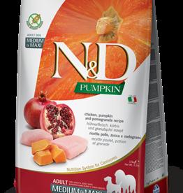 Farmina Dog N&D Pumpkin - Chicken & Pomegranate 26lb