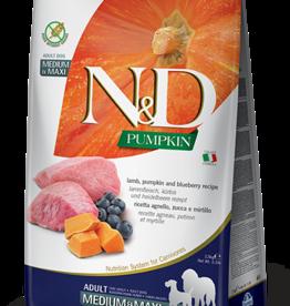 Farmina Dog N&D Pumpkin - Lamb & Blueberry Adult 5lb