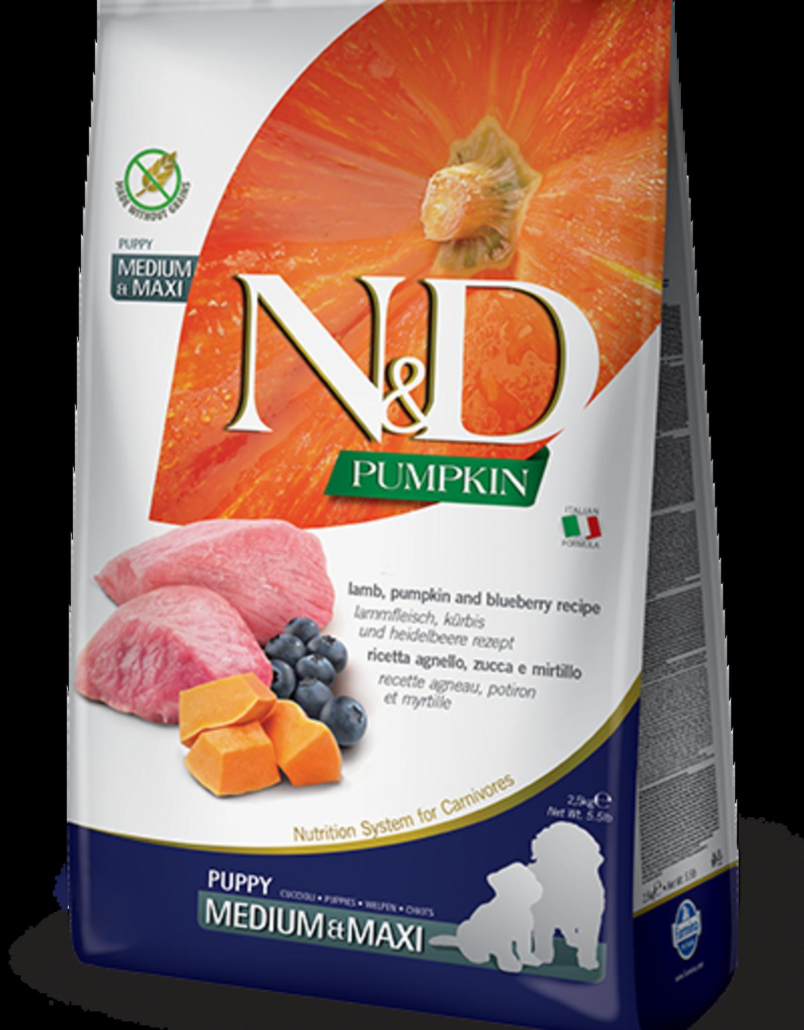 Farmina Dog N&D Pumpkin - Lamb & Blueberry Puppy 5lb