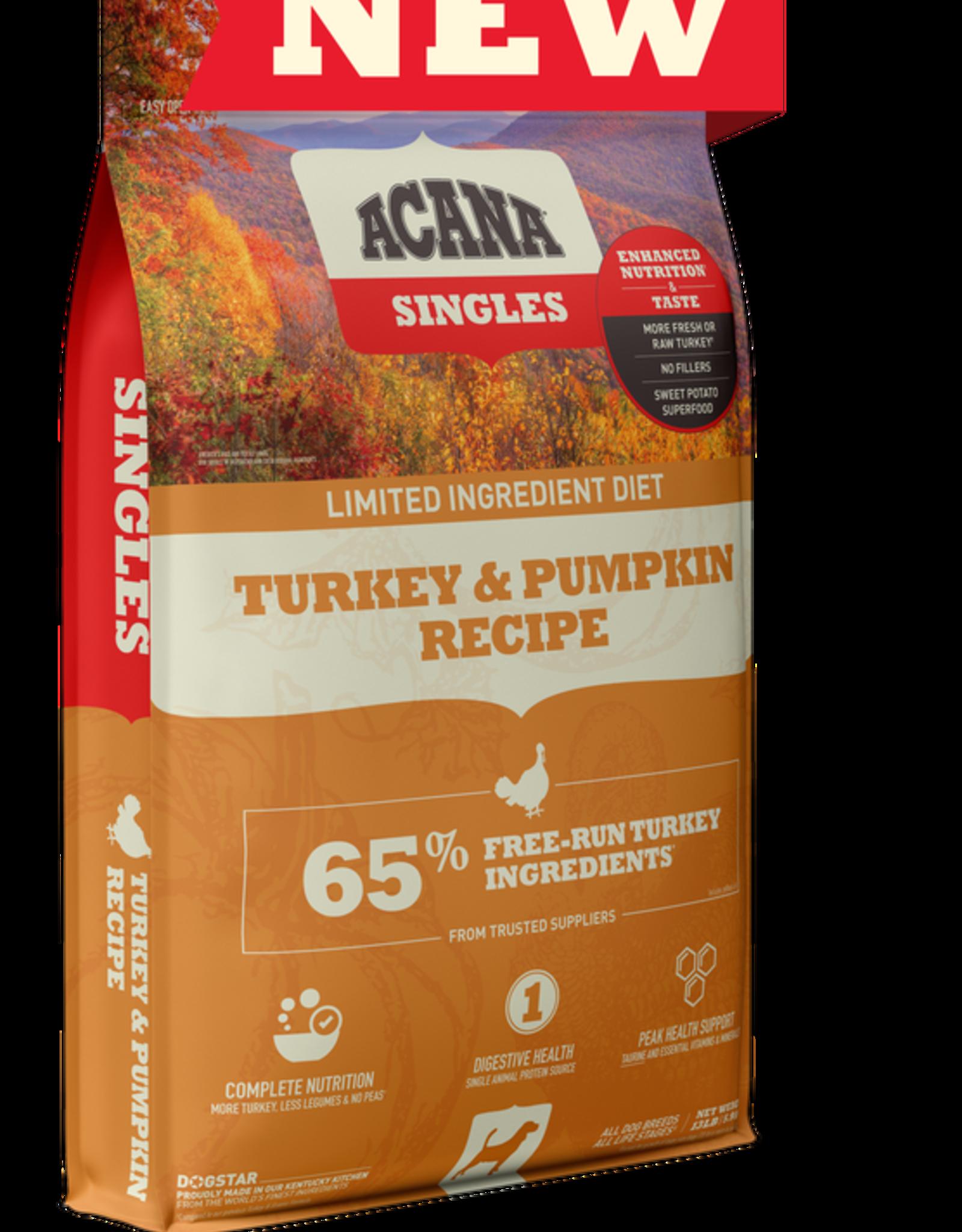 Acana Dog Singles Turkey & Pumpkin - Grain-Free 13lb